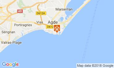 Mapa Cap d'Agde Apartamento 95210
