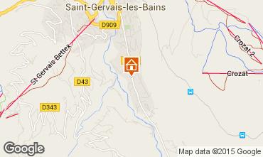 Mapa Saint Gervais Mont-Blanc Chalet 48749