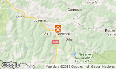 Mapa Ax Les Thermes Apartamento 99264