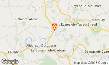 Mapa Le Bugue Casa rural 84197