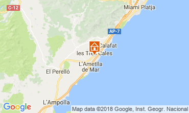 Mapa La Ametlla de Mar Villa 113854