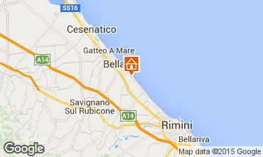 Mapa Bellaria Igea Marina Apartamento 64492