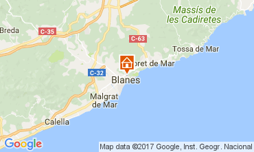 Mapa Blanes Apartamento 111066
