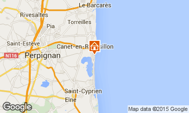 Mapa Canet-en-Roussillon Apartamento 82556