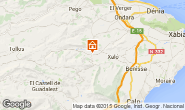 Mapa Calpe Casa 93981