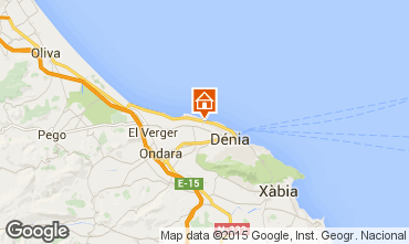 Mapa Denia Bungalow 75949