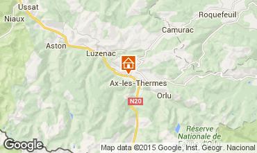 Mapa Ax Les Thermes Apartamento 71891