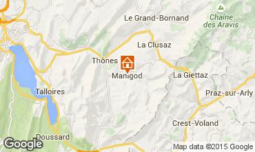 Mapa Manigod-Croix Fry/L'�tale-Merdassier Apartamento 1567