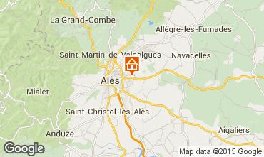 Mapa Alès Casa rural 68431