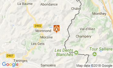 Mapa Morzine Chalet 114335