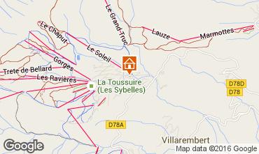 Mapa La Toussuire Apartamento 67158