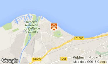 Mapa Evian les Bains Chalet 71283
