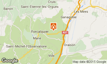 Mapa Forcalquier Casa rural 13158