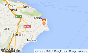 Mapa Jávea Villa 91445