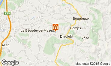 Mapa Dieulefit Casa rural 93657