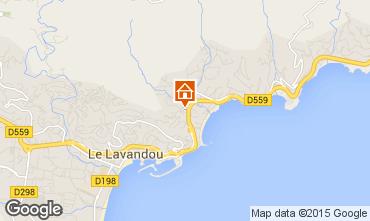 Mapa Le Lavandou Apartamento 48959