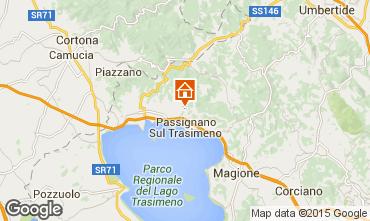 Mapa Passignano sul Trasimeno Villa 76408