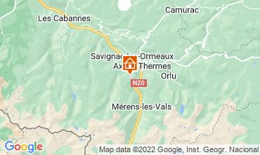 Mapa Ax Les Thermes Estudio 3911