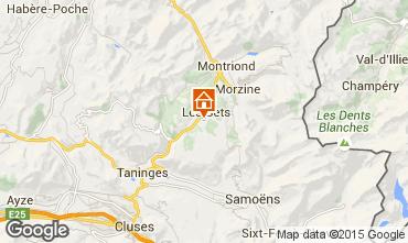 Mapa Les Gets Chalet 70500
