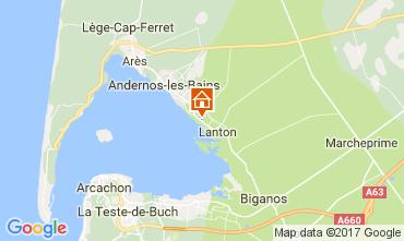 Mapa Andernos les Bains Casa rural 103208