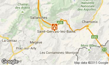 Mapa Saint Gervais Mont-Blanc Estudio 2556