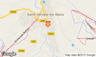 Mapa Saint-Gervais-les-Bains Apartamento 80385