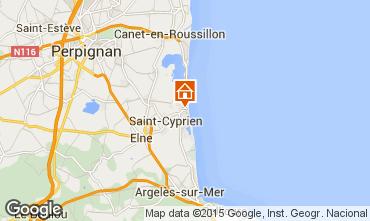 Mapa Saint Cyprien Plage Estudio 8732