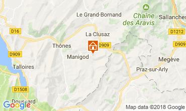 Mapa Manigod-Croix Fry/L'étale-Merdassier Apartamento 67225