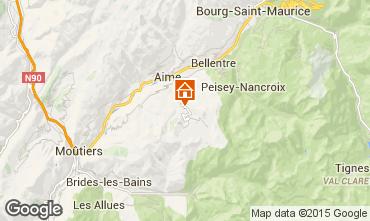 Mapa La Plagne Chalet 2154