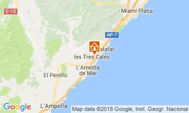 Mapa La Ametlla de Mar Villa 39255