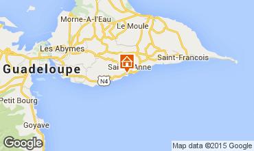 Mapa Sainte Anne (Guadalupe) Bungalow 8023