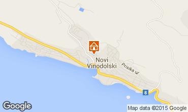 Mapa Novi Vinodolski Casa 76429