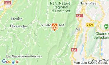 Mapa Villard de Lans - Corren�on en Vercors Estudio 68518