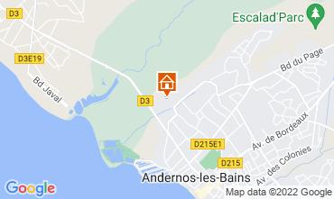 Mapa Andernos les Bains Casa rural 81528