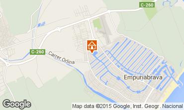 Mapa Ampuriabrava Apartamento 75379
