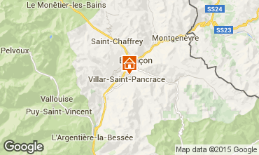 Mapa Serre Chevalier Chalet 66793