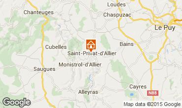 Mapa Le Puy en Velay Casa rural 94493