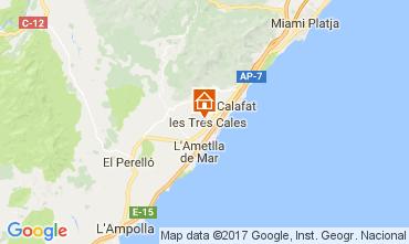 Mapa La Ametlla de Mar Villa 39352