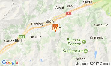 Mapa Thyon 2000 Les Collons Chalet 112174