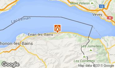 Mapa Evian les Bains Casa 98117