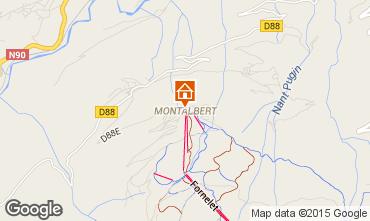 Mapa La Plagne Chalet 27113