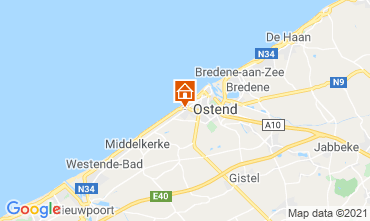 Mapa Ostende habitación de huéspedes 72510