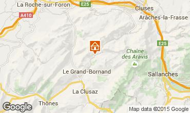 Mapa Le Grand Bornand Apartamento 75054