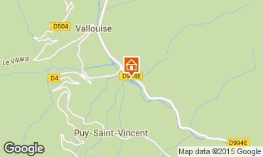 Mapa Puy Saint Vincent Chalet 94407