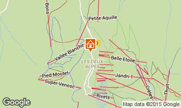 Mapa Les 2 Alpes Estudio 73843