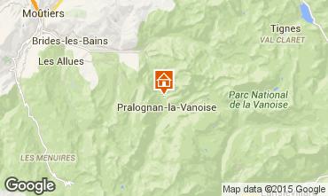 Mapa Pralognan la Vanoise Chalet 44318