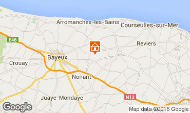 Mapa Bayeux Casa rural 78404