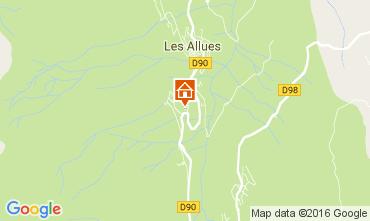 Mapa M�ribel Chalet 106813