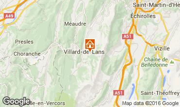 Mapa Villard de Lans - Corren�on en Vercors Casa rural 19078