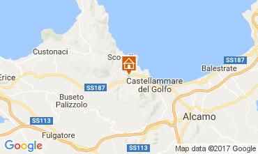 Mapa Castellammare del Golfo Villa 109378